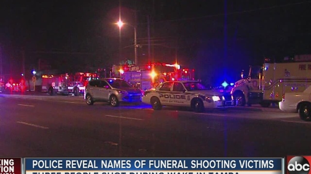 3 injured in shooting at Tampa funeral home