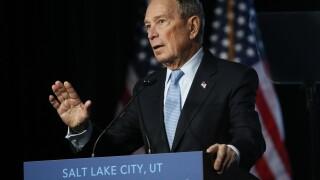 Mike Bloomberg in Salt Lake City