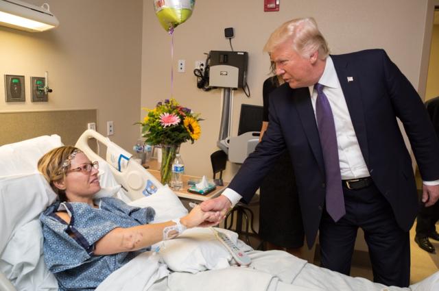 PHOTOS: President Trump visits Las Vegas shooting victims