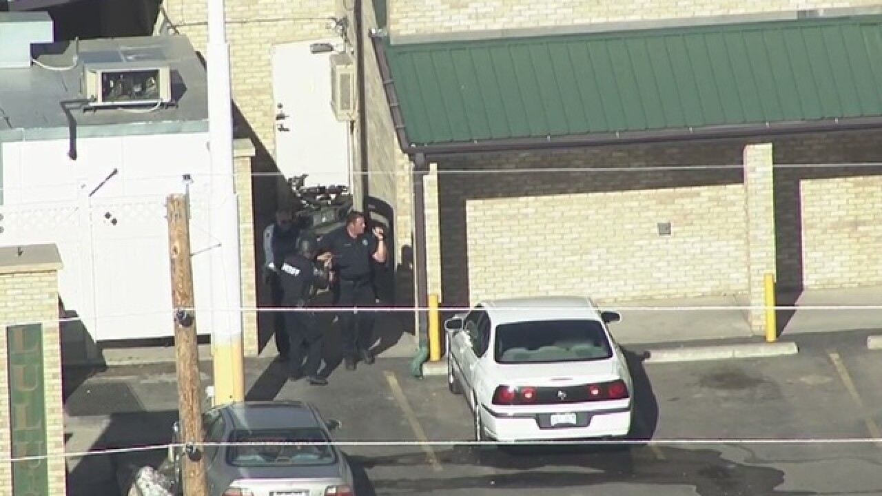 'Gunman' turns out to be man with band equipment