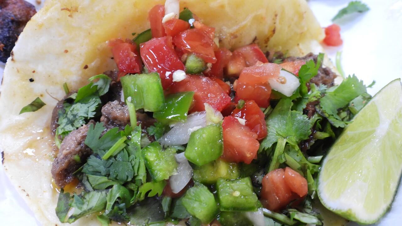Street taco at Carniceria y Tortillia San Antonio.JPG