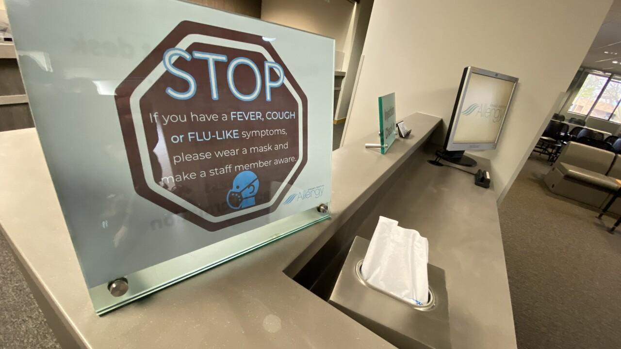 Grand Rapids Allergy Coronavirus Sign