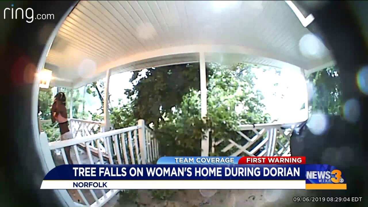 After Norfolk landlord's girlfriend rushes to free tenant pinned under tree, she springs to help again