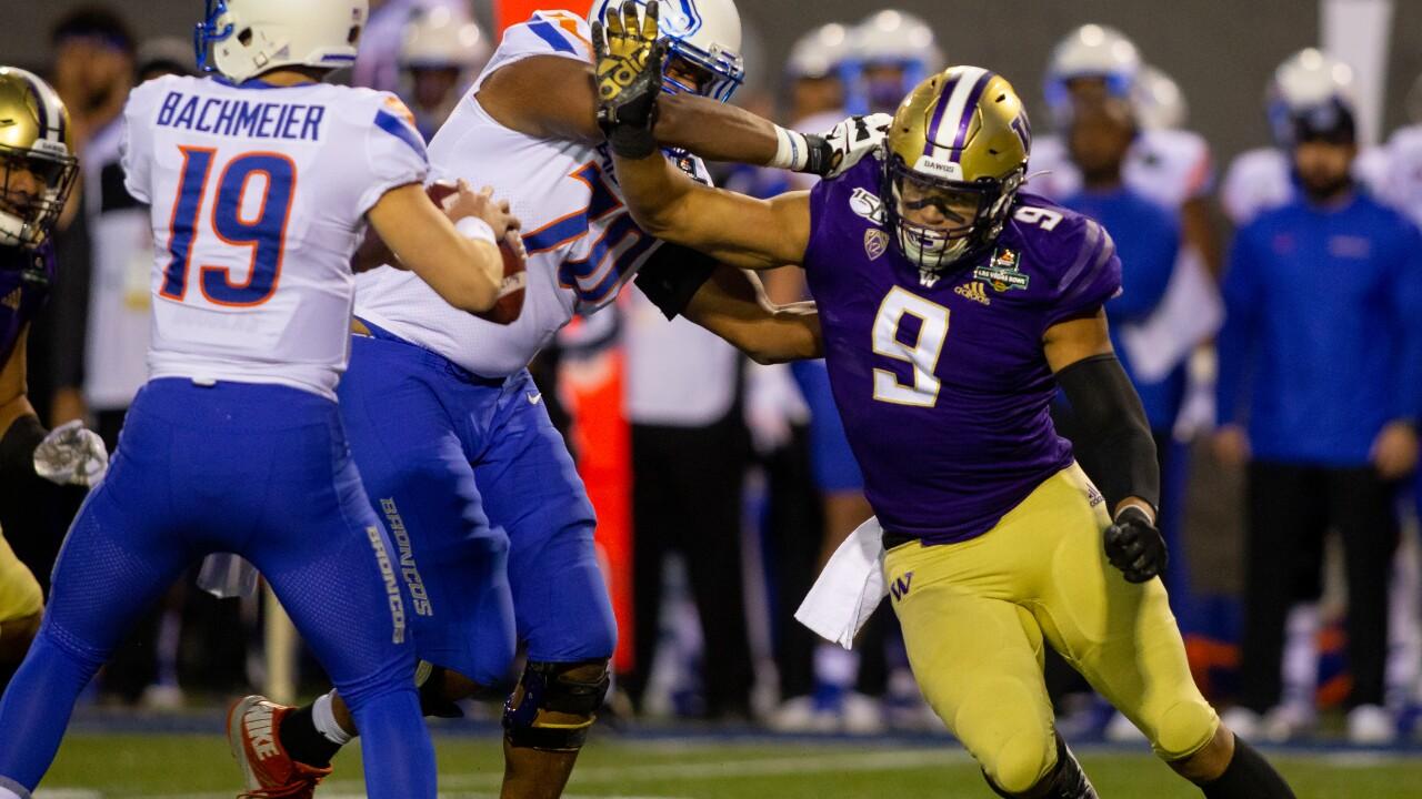 The University of Washington football team plays Boise State University in the Las Vegas Bowl