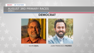 Kevin Dahl and Juan Francisco Padres are facing off in the Democratic Primary for Ward 3 of the Tucson City Council.
