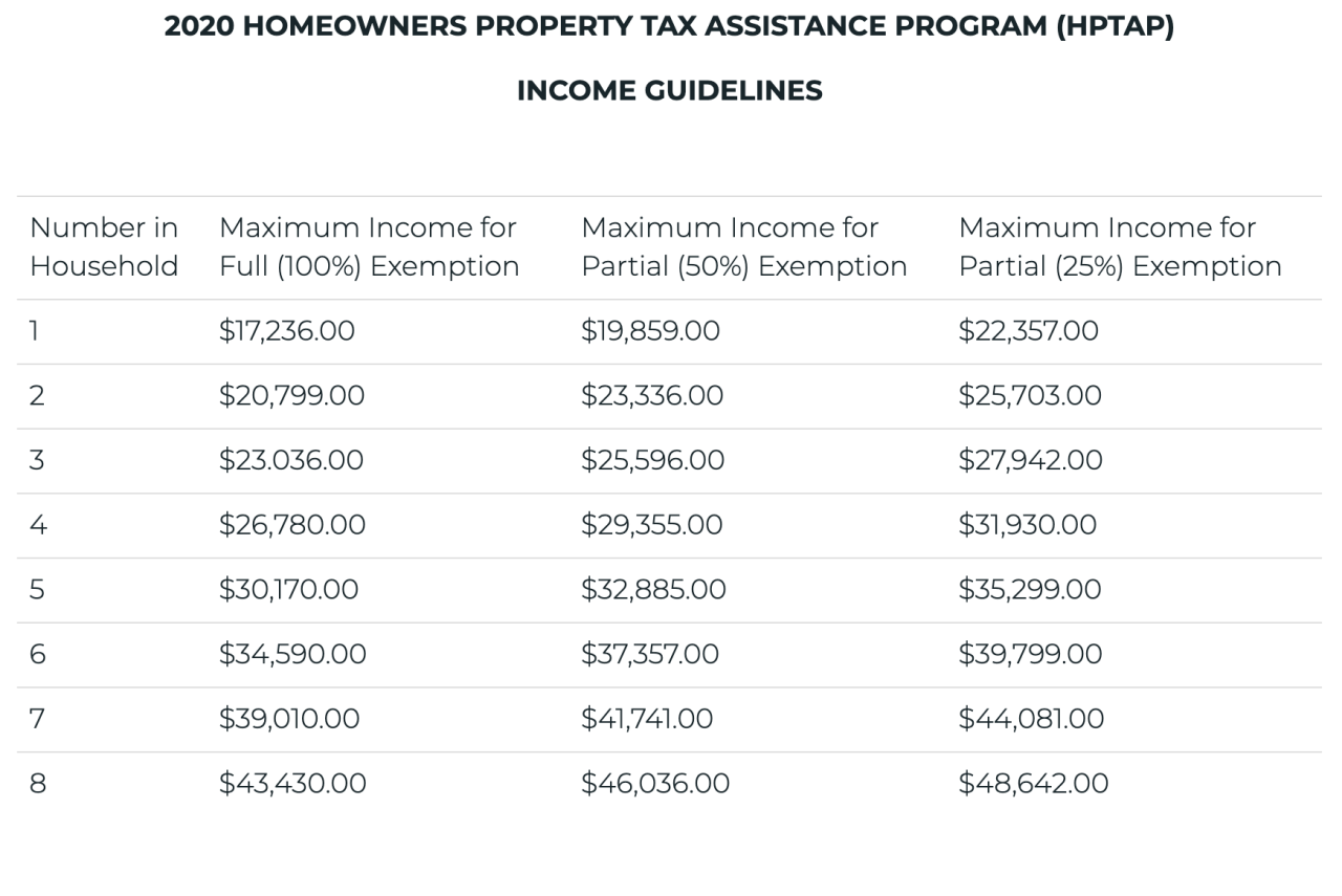 City of Detroit Property Tax Exemption Guidelines