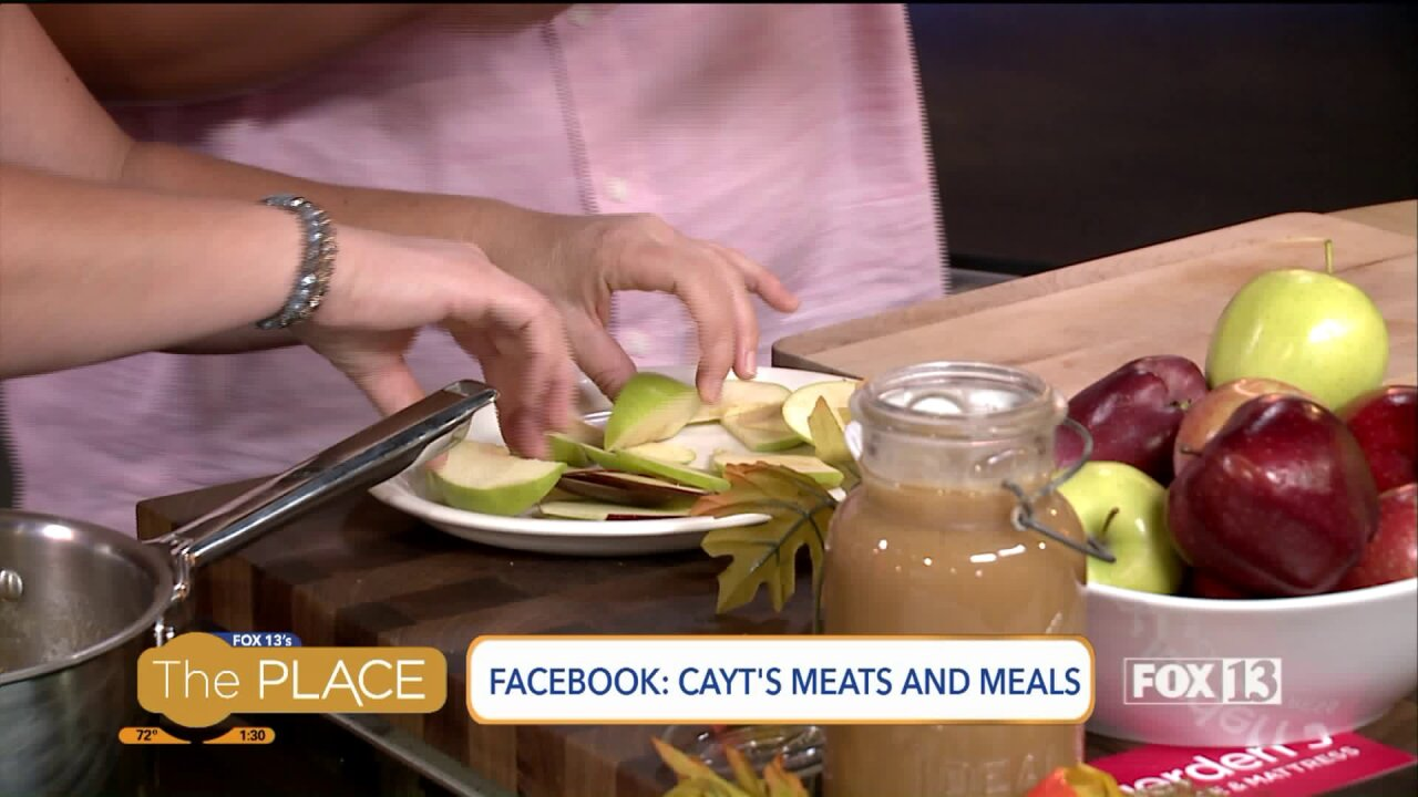 Apple Nachos with Caramel Sauce by Cayt's Meats and Meals