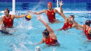 Spain cruises past South Africa in preliminary round of women's water polo
