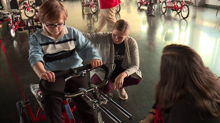 Photos: Kids gifted adaptive bikes in Richmond