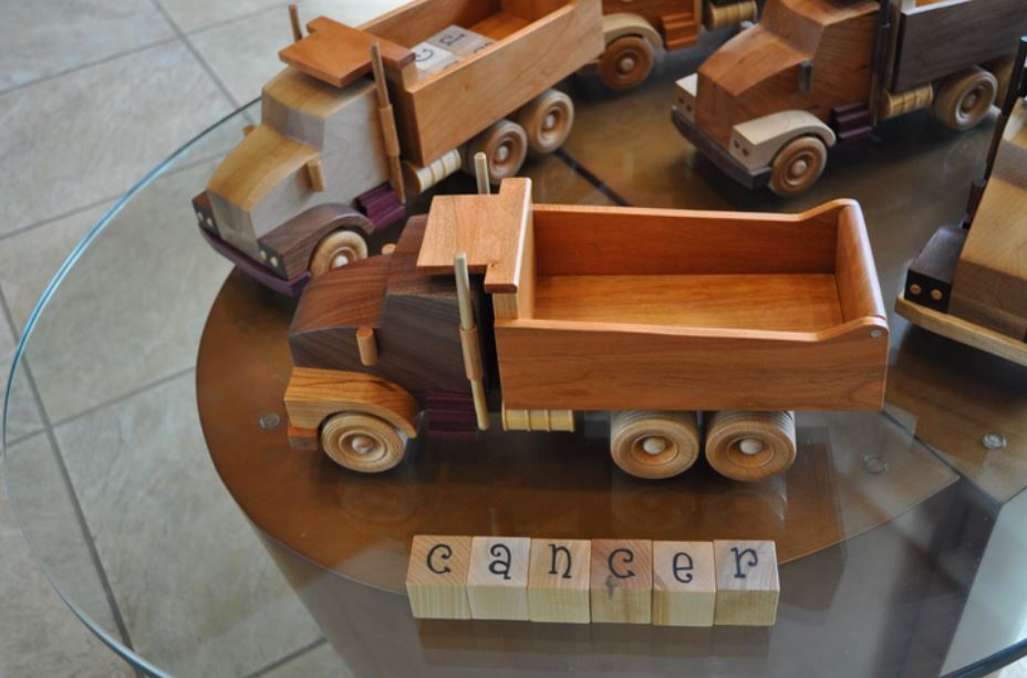 Dump Truck with Cancer letters.JPG