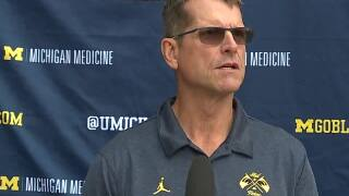 Harbaugh on how 2021 Michigan team compares to past teams
