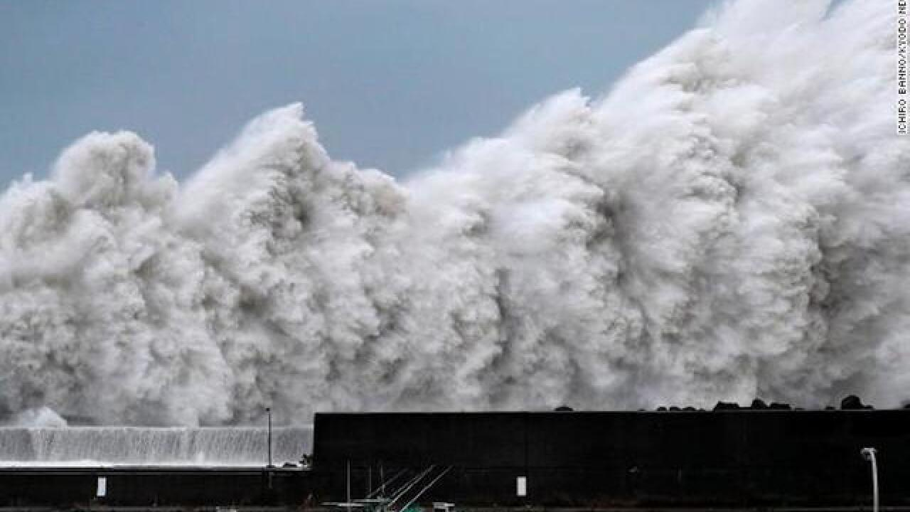 Typhoon leaves trail of destruction; 10 dead