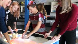 Jackson Middle School augmented reality sandbox