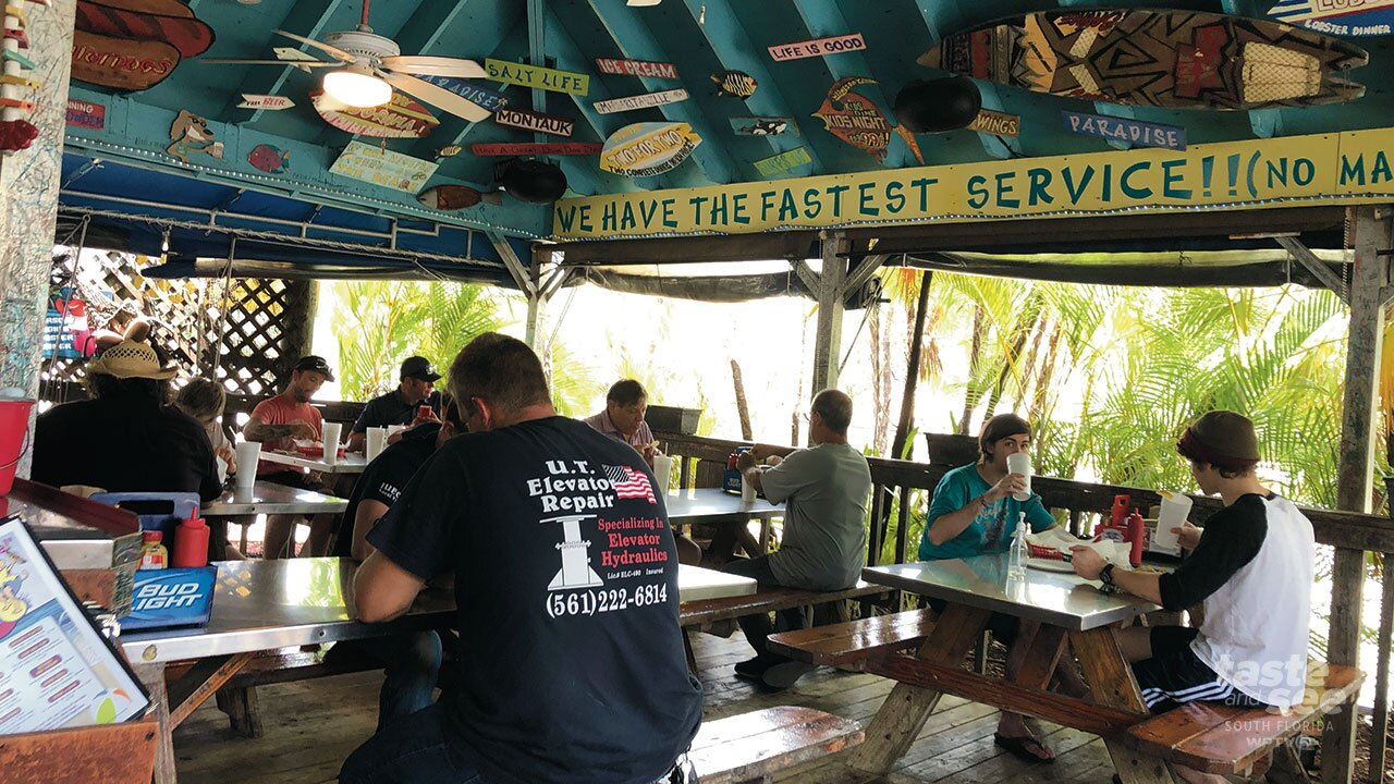 Dune Dog is a Key West-inspired open-air cafe.