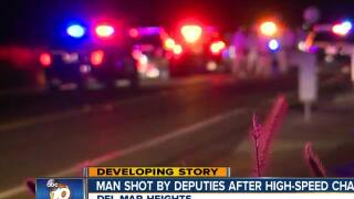 Man shot by deputies after high-speed chase