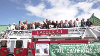 Belgrade celebrates state titles in style