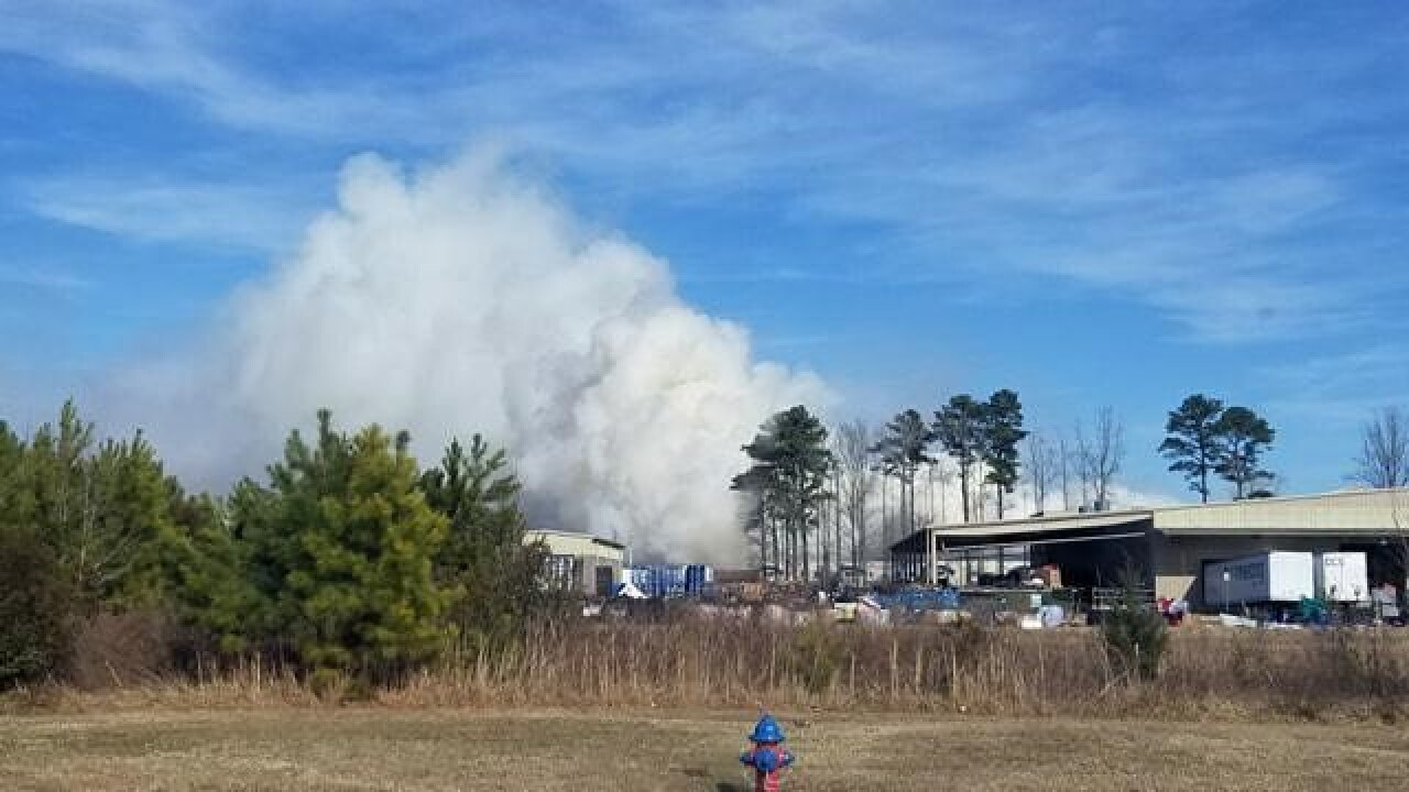Large brush fire reported in VirginiaBeach