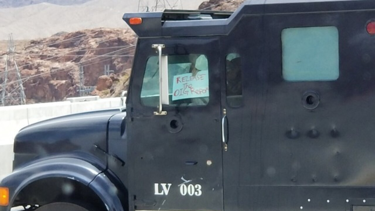 Man named in barricade incident at Hoover Dam