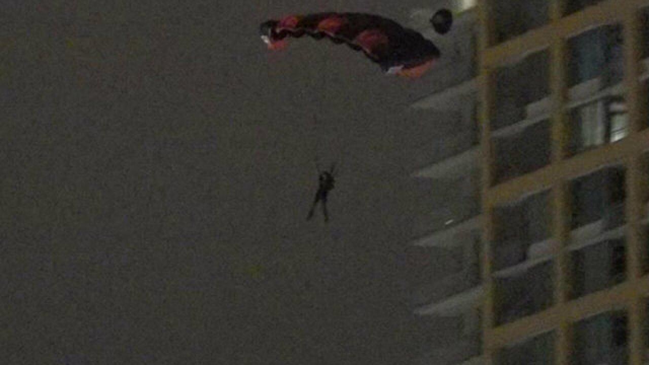 Base jumper leaps from East Village building