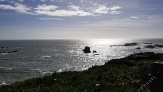 Coastal blazing sun