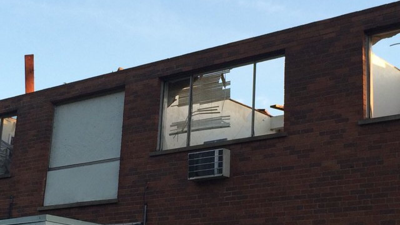 Storm damage rips roofs off in Millvale