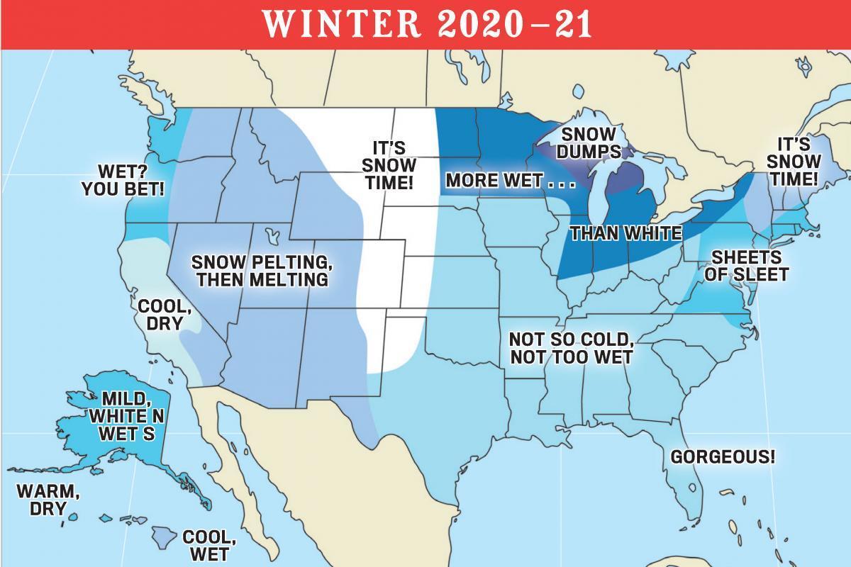Old Farmers' Almanac Winter Outlook
