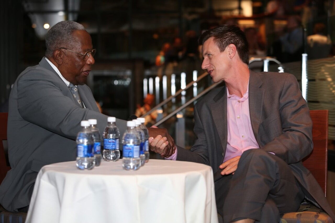 Hank Aaron and Craig Counsell