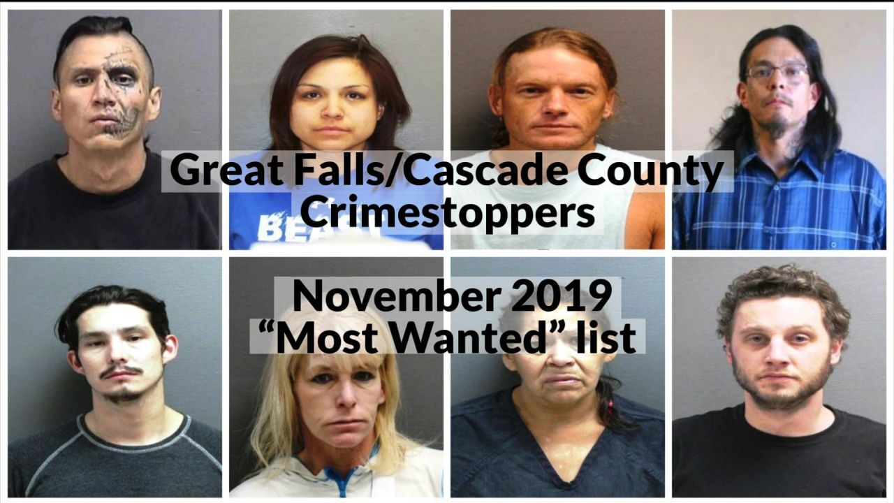 "Great Falls/Cascade County Crimestoppers: November 2019 ""Most Wanted"""