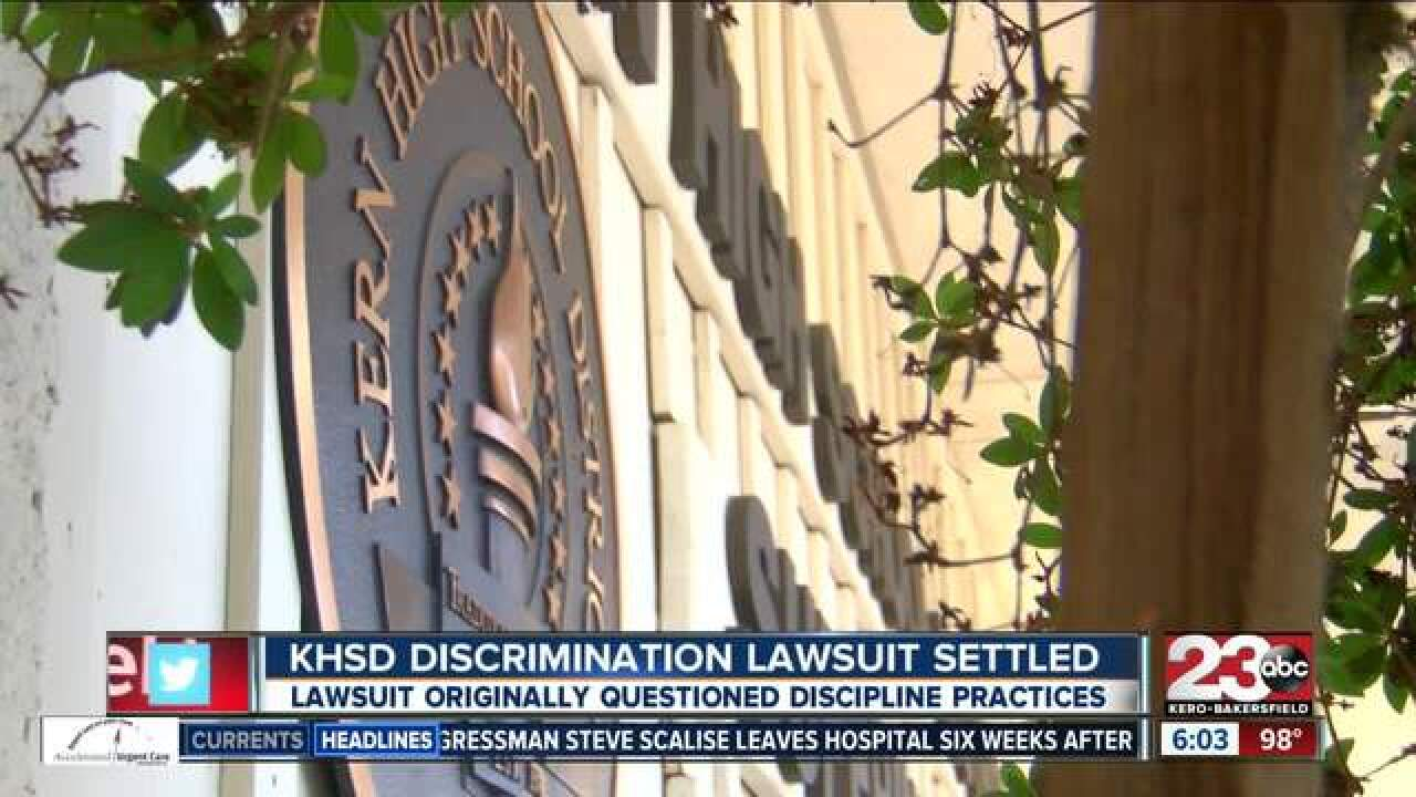 Kern HS District lawsuit reached settlement