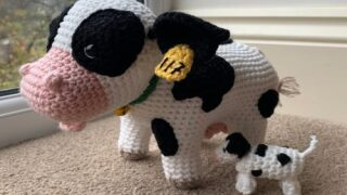 Crochet This Cute Cow With A Surprise Calf Hidden Inside