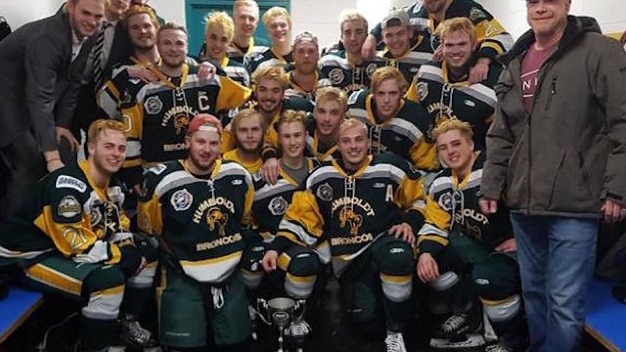 Team trainer dies 5 days after hockey team bus crashes; league to continue with playoffs