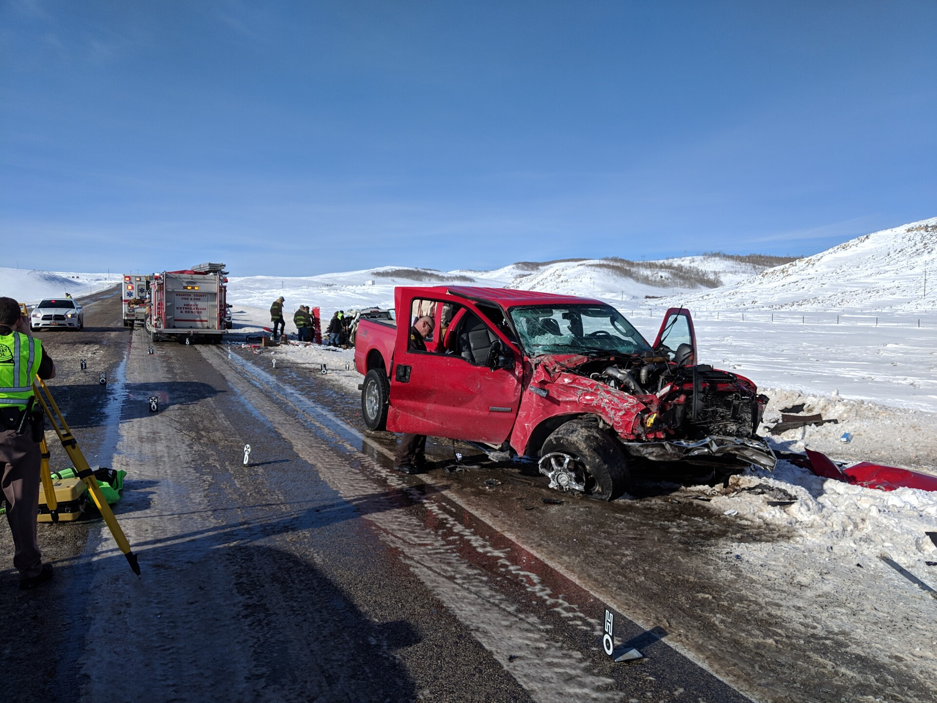 Photos: One dead, three injured in crash near Strawberry Reservoir