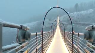 VIDEO: Gatlinburg SkyBridge decked out for the holidays