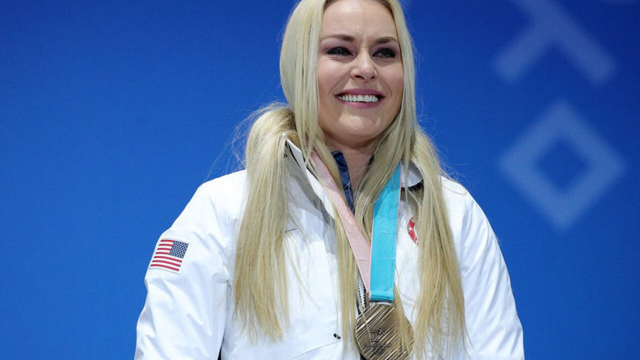 American Lindsey Vonn takes bronze in Olympic downhill race