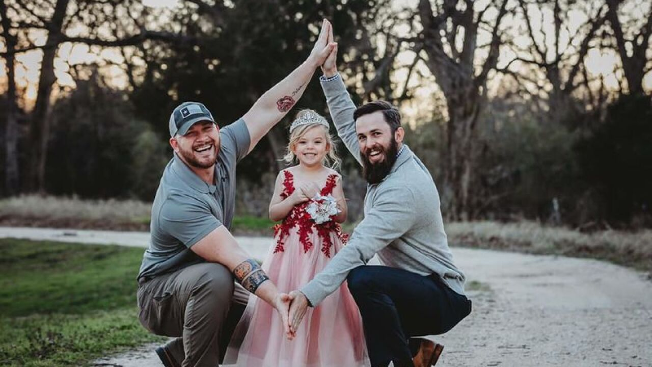 Photos of dad, future stepdad and daughter go viral for sweet message of blended families