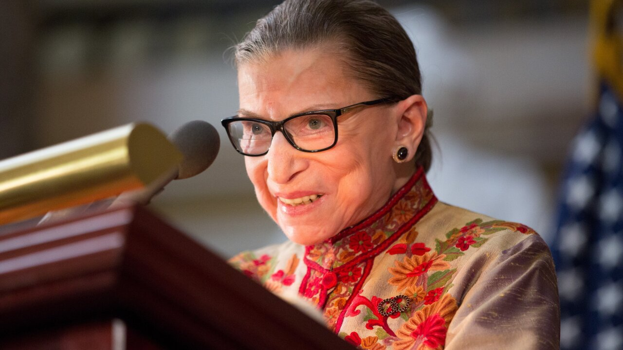 Ruth Bader Ginsburg says she never stopped working out during pancreatic cancer treatment