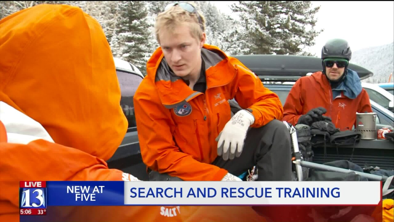 Search and Rescue crews from across Utah gather for re-certification on their winter training