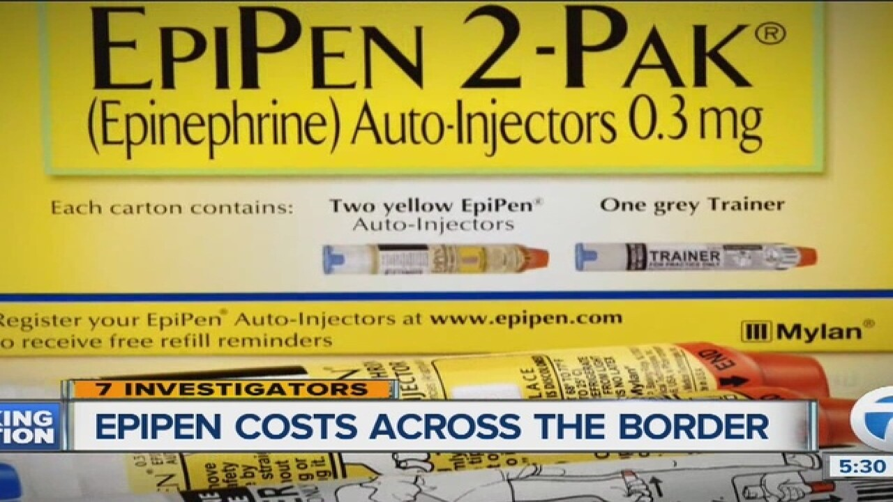 EpiPen prices are much lower in Canada