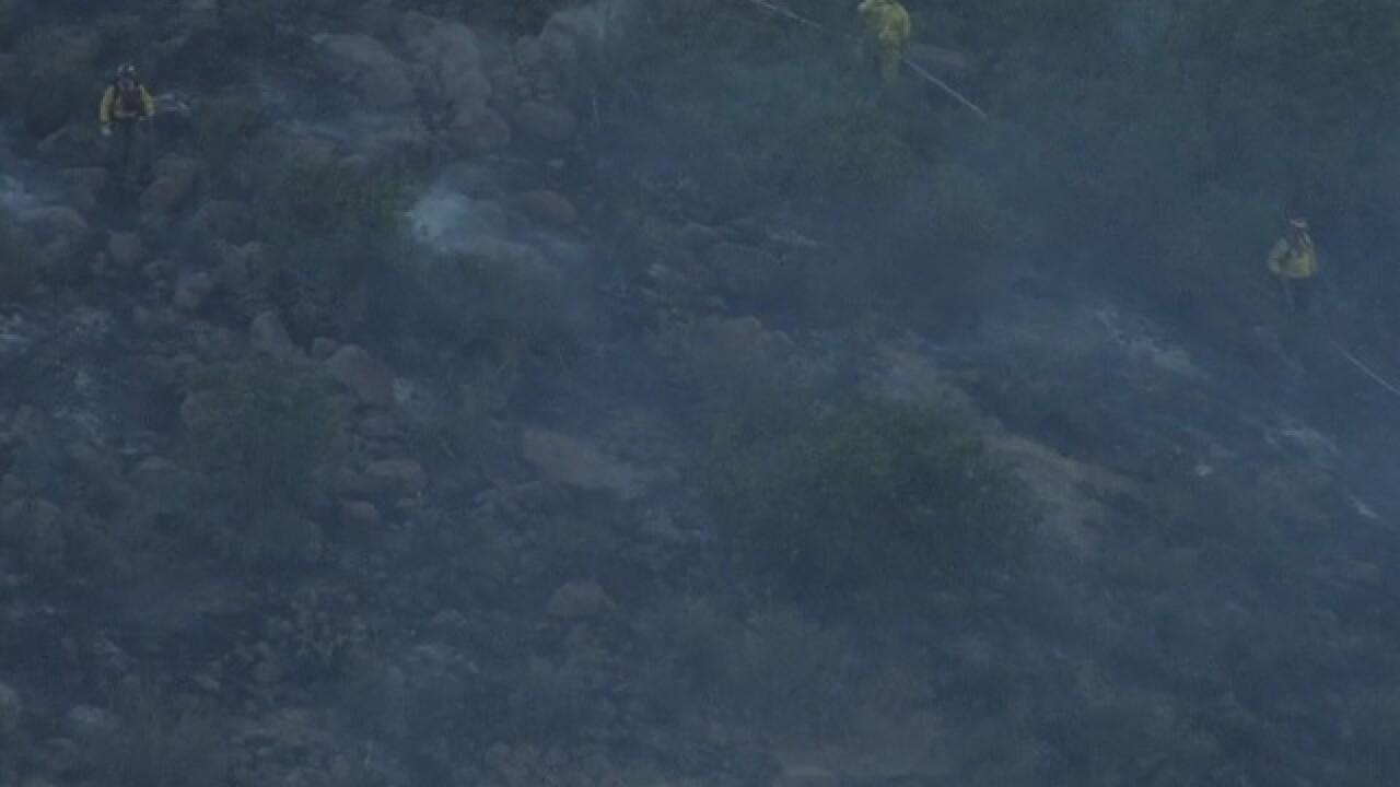 West Metro Fire battling fire on Table Mountain