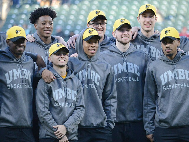 Orioles celebrate UMBC basketball