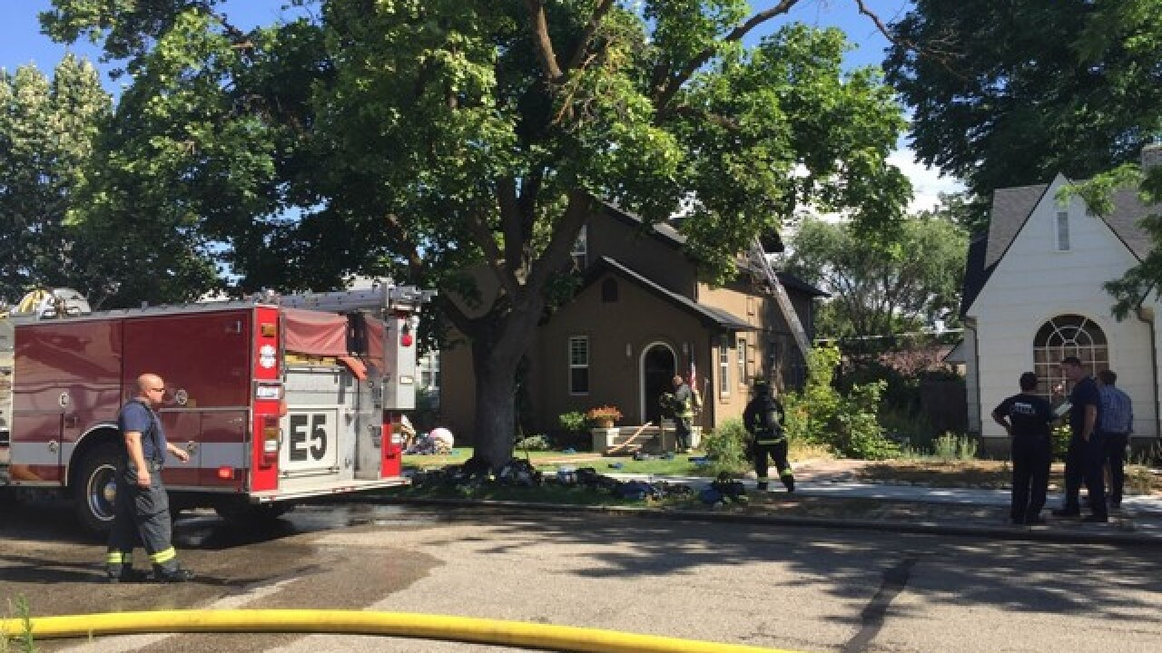 Boise home damaged after fire sparks in attic
