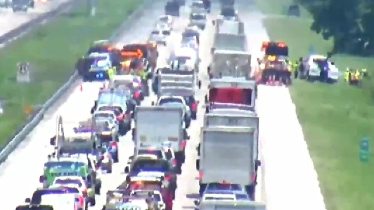 Serious crash on I-75 in North Fort Myers