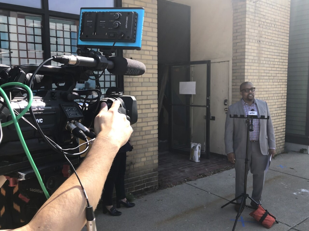 Ossie Hendrix outside of The Chris Abele Legacy Co-Working and Innovation Space