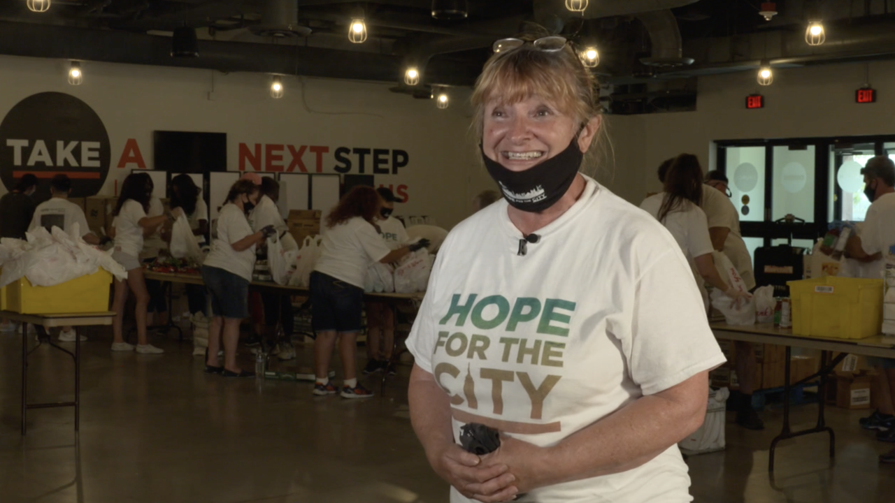 Hope for the City volunteer works nearly every day since pandemic began