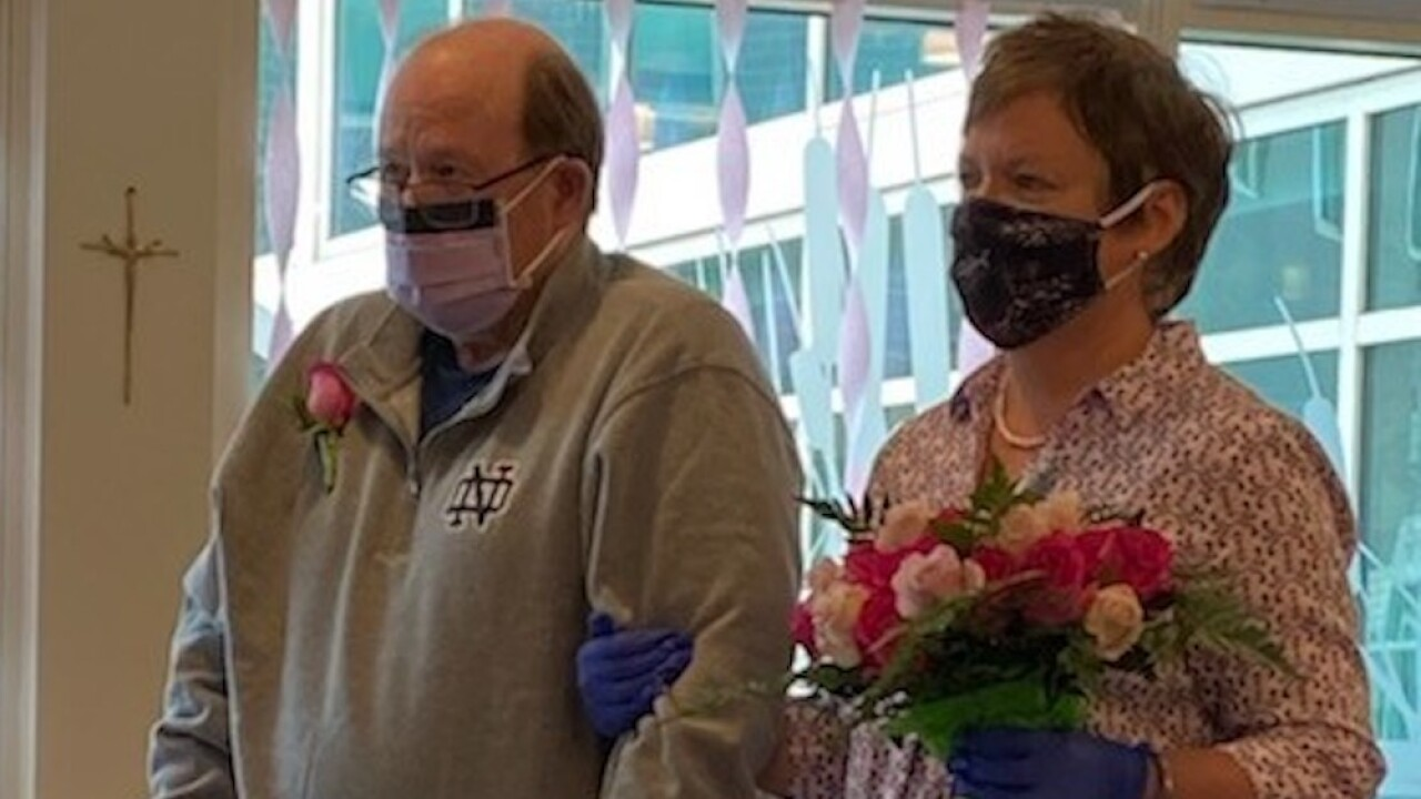 COVID-19 survivor discharged on 30th wedding anniversary, celebrates by renewing vows