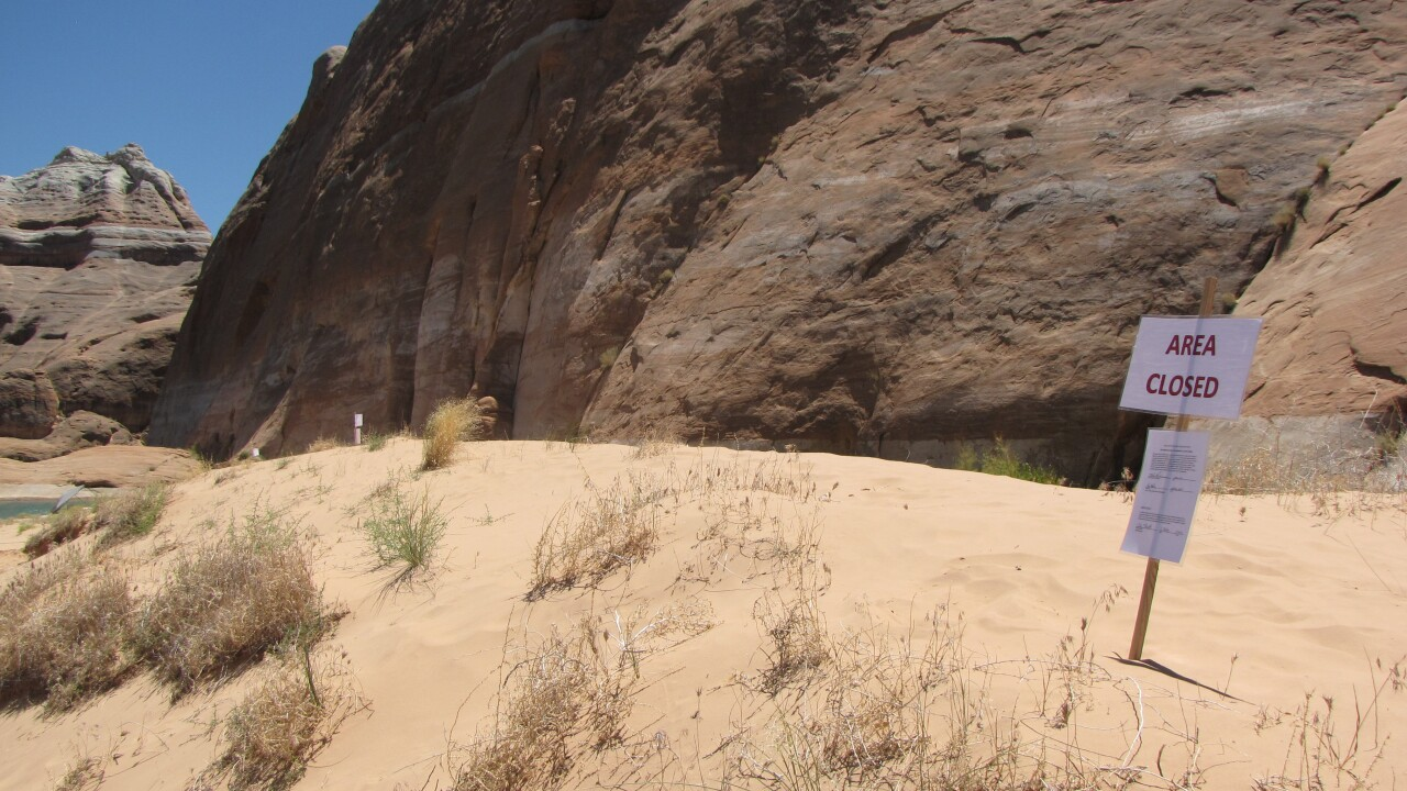 Popular Lake Powell beach closed over human feces contamination