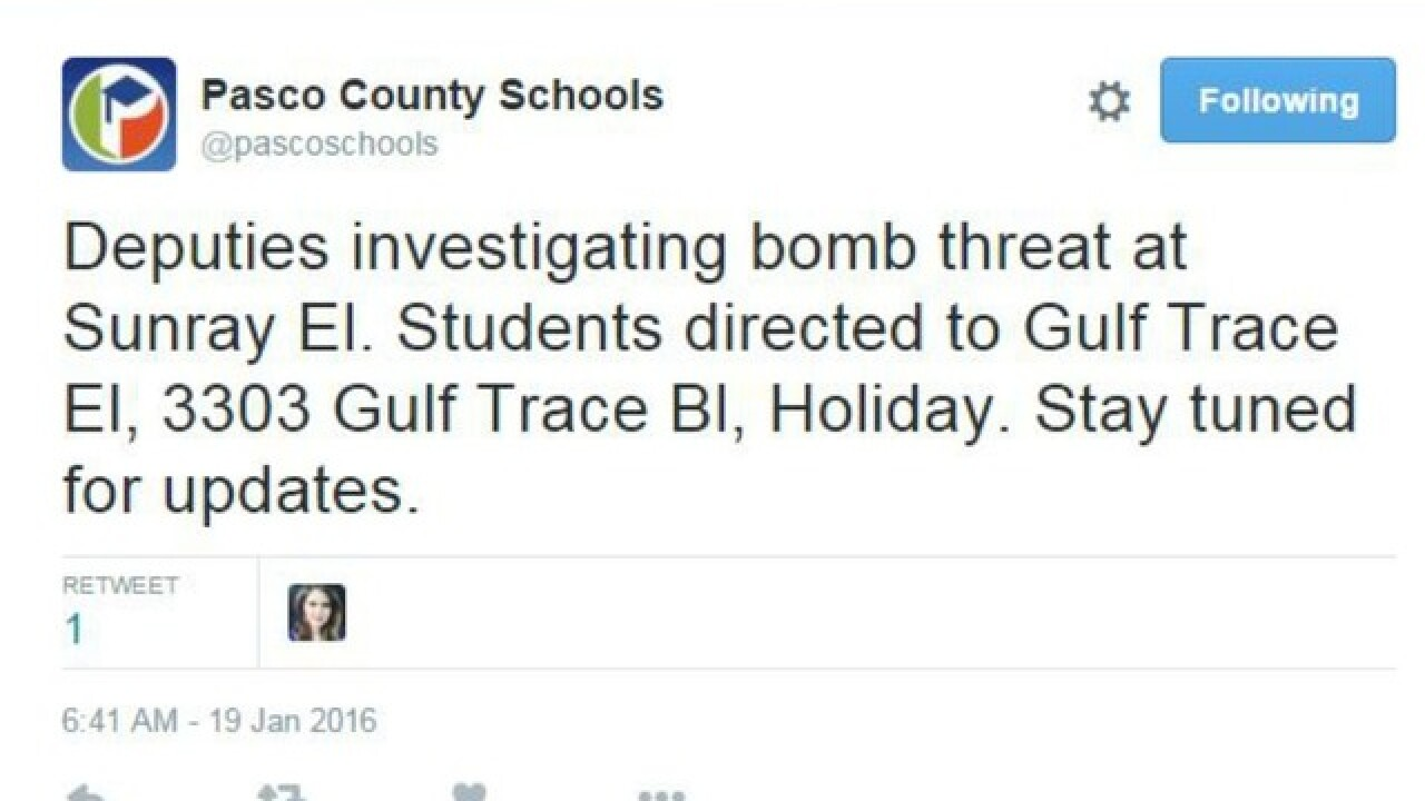 Bomb threat at Sunray Elementary in Holiday