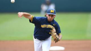 Michigan beats Texas Tech in its first College World Series game since 1984