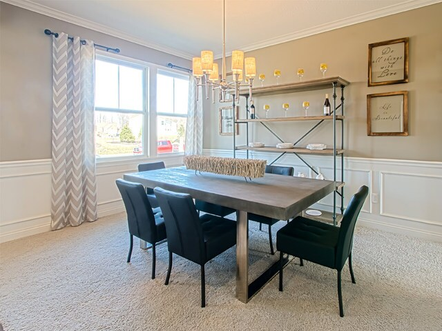 Fischer Homes - The Foster - Expansive floor plan with generously sized rooms