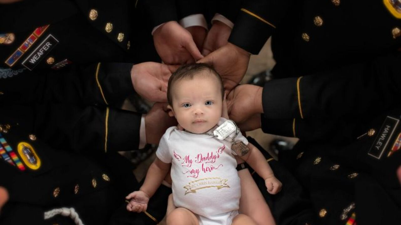 Gorgeous NC baby stars in photoshoot with fallen soldier father's band of brothers 2